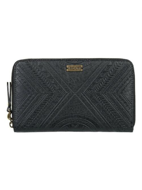ROXY WOMENS PURSE.OOPSIE DAISY BLACK LARGE FAUX LEATHER CLUTCH CASH WALLET 9W 34